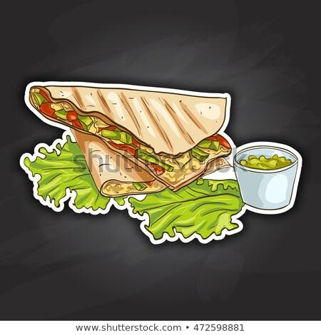 Quesadilla color picture sticker Stock photo © netkov1