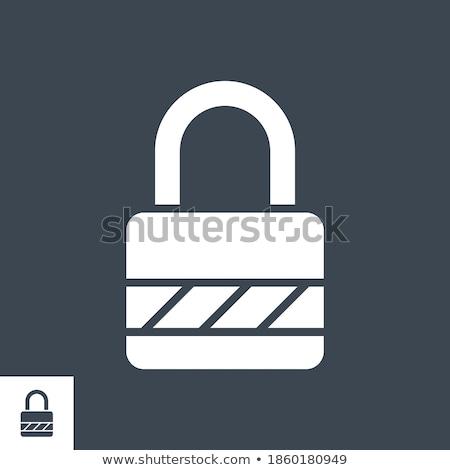 Padlock related vector glyph icon. Stock photo © smoki