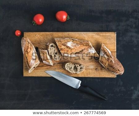 boş · yemek · bıçak · çatal · kahverengi · peçete - stok fotoğraf © masay256