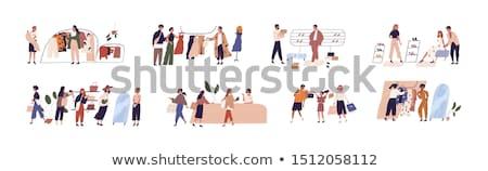 Vásárló vétel emberek vásárlás vektor férfi Stock fotó © robuart