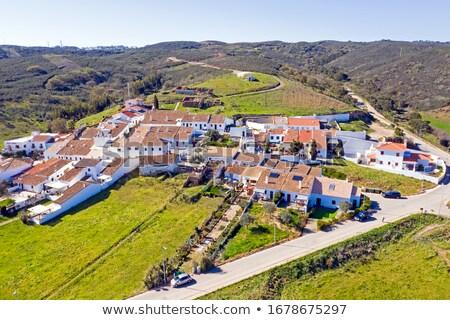 Manzara köy bölge Portekiz yol Bina Stok fotoğraf © inaquim