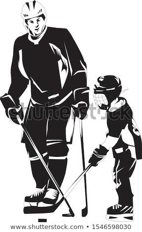 Father son hockey Stock photo © Lopolo