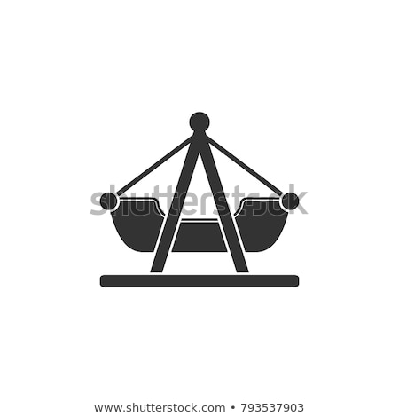 boat swing icon vector outline illustration Stock photo © pikepicture