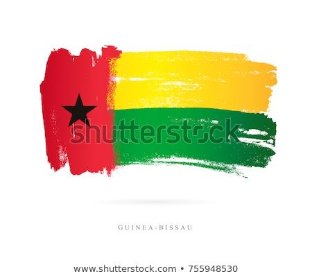 Guiné bandeira branco mundo fundo assinar Foto stock © butenkow