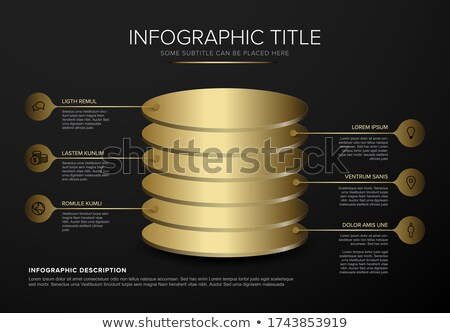 Vektor dunkel golden Schichten Vorlage Stock foto © orson