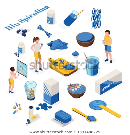 Medicines Supplements isometric icon vector illustration Stock photo © pikepicture