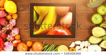 自然食品 碑文 健康 栄養 ストックフォト © ra2studio