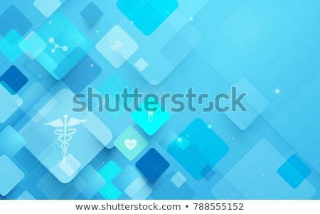 Stock photo: abstract blue icon