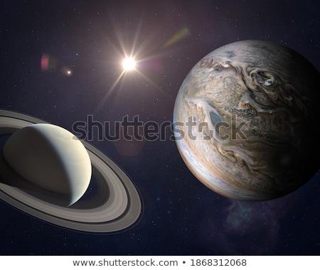 Planeta paisagem vermelho Foto stock © mariephoto