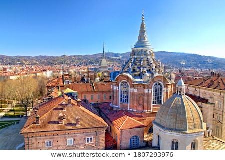 Widoku katedry torino Włochy miasta miejskich Zdjęcia stock © Spectral