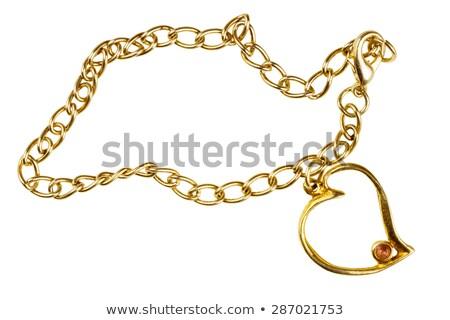 Bracelet With Stones And Chain Сток-фото © Taigi