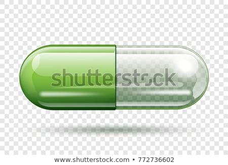 piros · kapszulák · konténer · közelkép · kilátás · szürke - stock fotó © vividrange