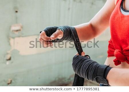 boks · ayak · genç · Afrika - stok fotoğraf © pzaxe