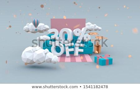 30 percentage off sale blue banner Stock photo © marinini