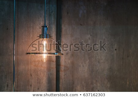 öreg · villanykörte · fából · készült · fa · antik · koszos - stock fotó © stokkete
