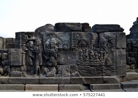 Bas-relief - story of Buddha's life Stock photo © pzaxe