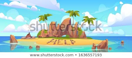 Lone rocky uninhabited island  Stock photo © vavlt