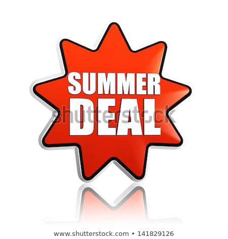 summer deal red orange star banner stock photo © marinini