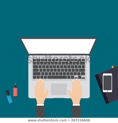 Keyboard with Online Marketing Button. Stock photo © tashatuvango