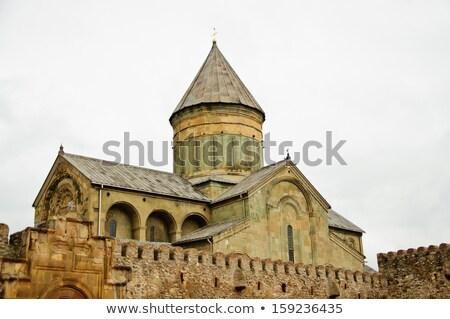 Starych katolicki kościoła niebo budynku kamień Zdjęcia stock © tarczas