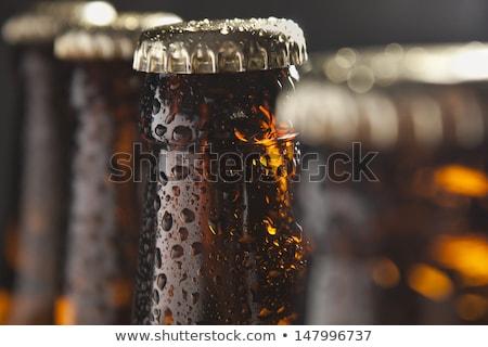 close up of beer bottle stock photo © pxhidalgo