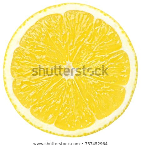 Szelet citrom izolált fehér étel háttér Stock fotó © oly5