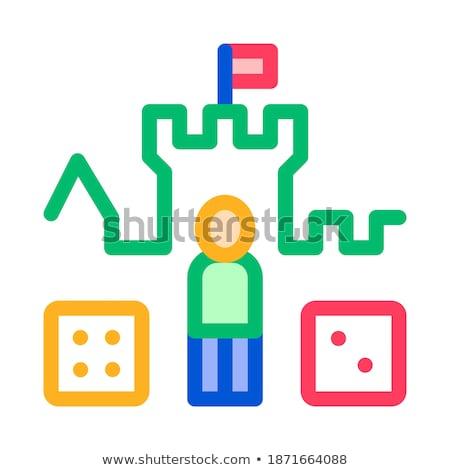 Glazig puzzel gekleurd illustratie vector Stockfoto © derocz