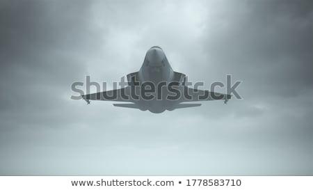 Harc repülőgép zöld háború kék repülőgép Stock fotó © premiere