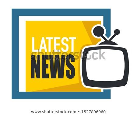 Online News on Yellow in Flat Design. Stock photo © tashatuvango