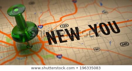 yeni · yeşil · harita · seçici · odak · imzalamak · veri - stok fotoğraf © tashatuvango