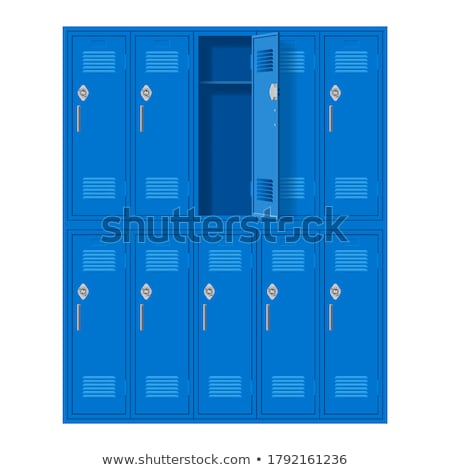 Foto stock: Armário · portas · ginásio · quarto · grupo · chave