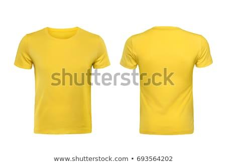 Man posing with blank yellow shirt Stock photo © sumners