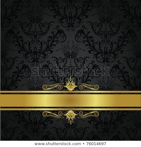 Altın süs sarı can kullanılmış davetiye Stok fotoğraf © leonido
