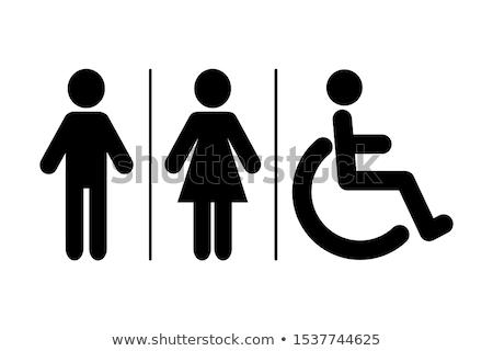 Vector restroom icons: lady, man Stock photo © LittleCuckoo