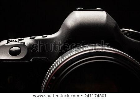 zawodowych · nowoczesne · dslr · kamery · szczegół · górę - zdjęcia stock © lightpoet