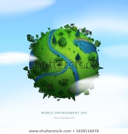 Wonen aarde milieu behoud wereldbol natuur Stockfoto © tilo
