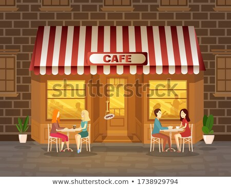 пусто · кафе · терраса · поздно · осень · после · полудня - Сток-фото © juhku