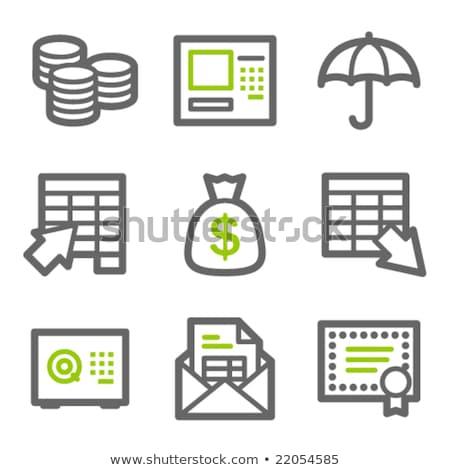 Gewelf groene vector icon knop internet Stockfoto © rizwanali3d