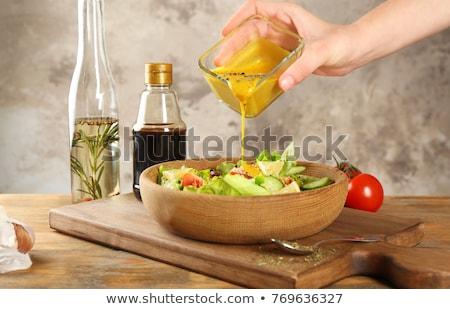 野菜 · サラダ · サラダドレッシング · カップ · ランチ - ストックフォト © m-studio