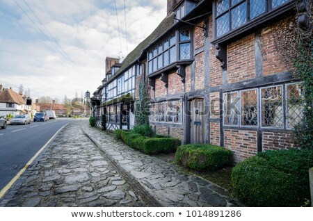 English village with timber framed houses, Biddenden, Kent. UK Stock photo © smartin69