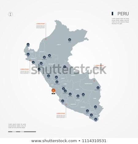 Narancs gomb kép térképek Peru űrlap Stock fotó © mayboro
