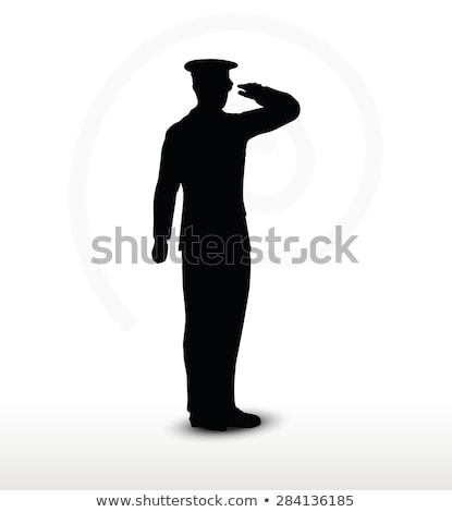 Armii ogólny sylwetka gest wektora obraz Zdjęcia stock © Istanbul2009