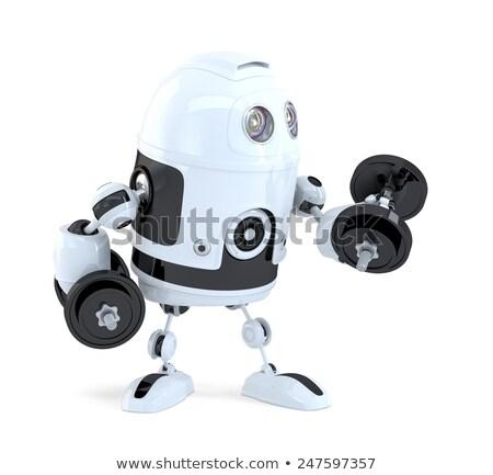 robot · artes · aislado · blanco · reloj - foto stock © kirill_m