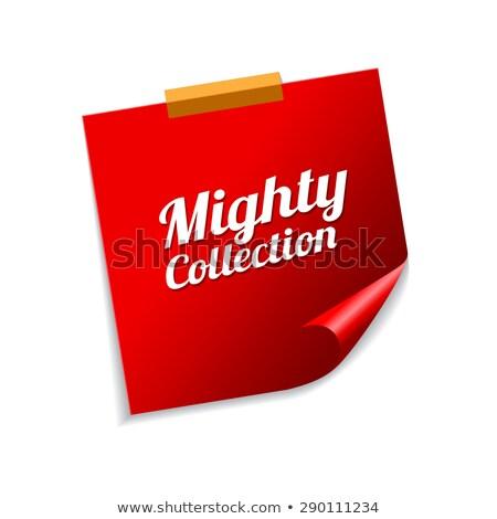Machtig collectie Rood sticky notes vector icon Stockfoto © rizwanali3d