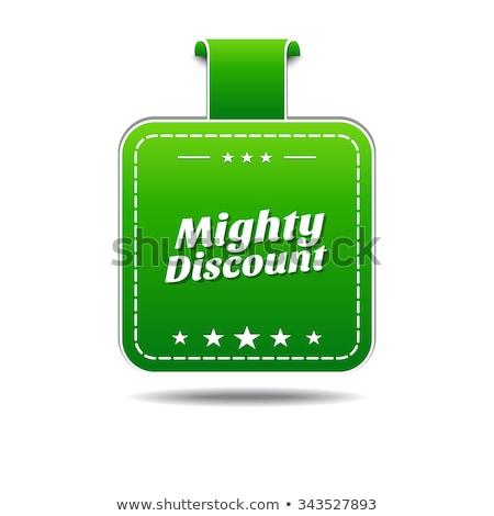 Mighty Discount Green Vector Icon Design Stock photo © rizwanali3d
