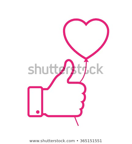 Thumbs Up Pink Vector Button Icon Stock photo © rizwanali3d