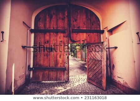 ретро фотография старые ворот фото Сток-фото © Zhukow