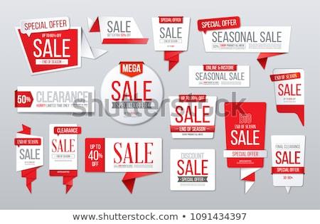 Szezonális üzlet piros vektor ikon terv Stock fotó © rizwanali3d