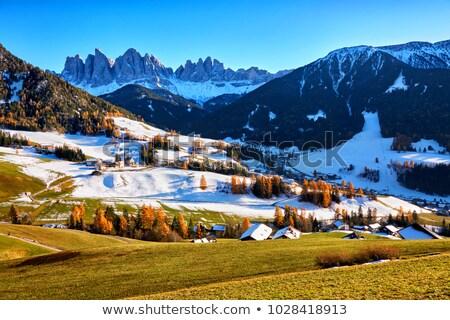 antena · Świt · włoski · alpy · śniegu · pokryty - zdjęcia stock © meinzahn