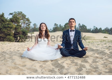 bride meditation Stock photo © seenad